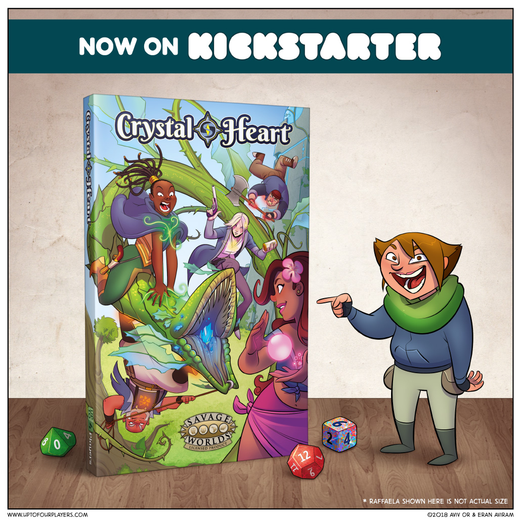 The Crystal Heart RPG is now live on Kickstarter!