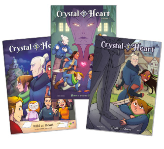 Crystal Heart Comics #1-#3