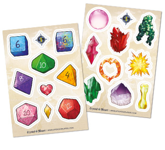 Crystal Heart Sticker Sheets