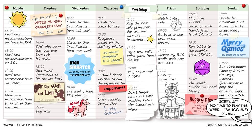 Nadav's Weekly Schedule